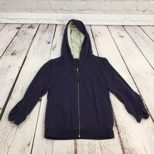 Navy blue hoodie 3/4 sleeve Anthropologie medium